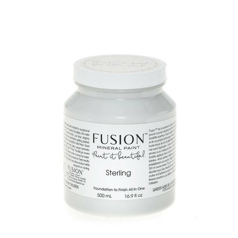 Fusion Mineral Paint - Sterling - Hopeanharmaa - 500 ml