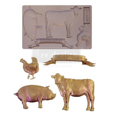 Silikonimuotti - 20x13 cm - Prima Re-Design - Farm Animals