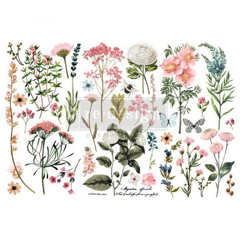 Siirtokuva - 45x30 cm - Botanical Paradise - Prima Redesign Decor Transfer