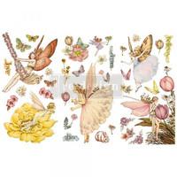 Siirtokuva - 45x30 cm - Fairy Flowers - Prima Redesign Decor Transfer