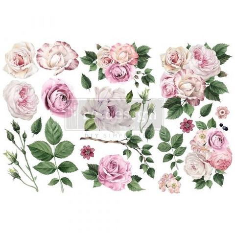 Siirtokuva - 45x30 cm - Delicate Roses - Prima Redesign Decor Transfer