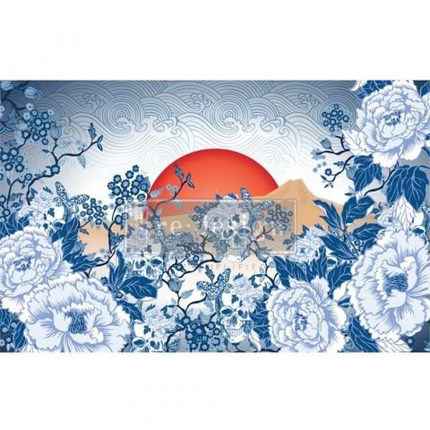 Decoupage-arkki - 48x76 cm - Skull Chinoiserie - Prima Redesign Tissue Paper