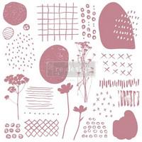 Leimasinsetti - 30x30 cm - Prima Re-design Decor Stamp - Abstract Scribbles
