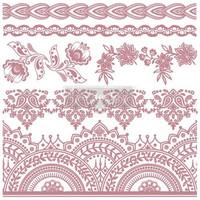 Leimasinsetti - 30x30 cm - Prima Re-design Decor Stamp - Bohemian Florals
