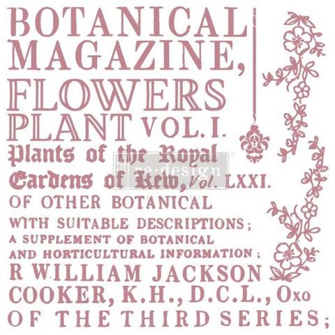 Leimasinsetti - 30x30 cm - Prima Re-design Decor Stamp - Botanical Encyclopedia