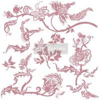 Leimasinsetti - 30x30 cm - Prima Re-design Decor Stamp - Distressed Floral Prints