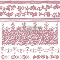 Leimasinsetti - 30x30 cm - Prima Re-design Decor Stamp - Floral Borders