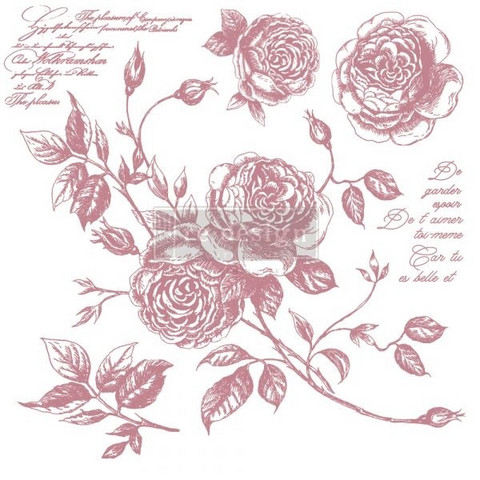 Leimasinsetti - 30x30 cm - Prima Re-design Decor Stamp - Romance Roses