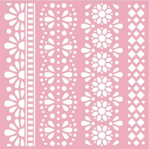 Sabluuna - 15 x 15 cm - Traditional Lace Borders