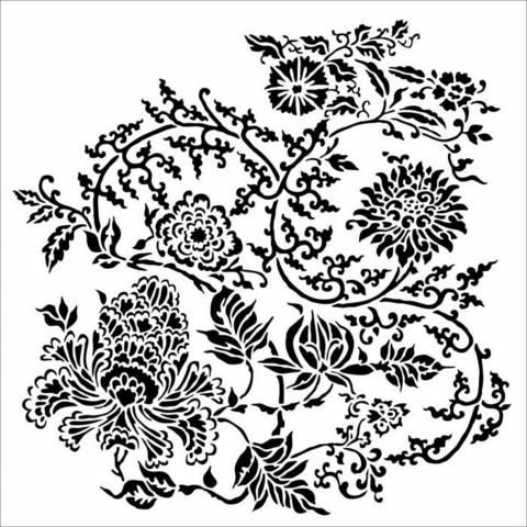 Sabluuna - 30 x 30 cm - Asian Floral