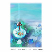 Decoupage-arkki - A4 - In my bubble So-Fish-Ticated nr.15