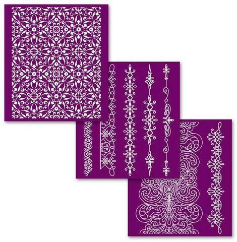 Sabluunasetti  20 x 22 cm - Delicate Lace Silkscreen Stencil