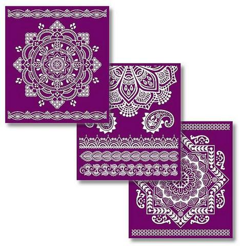 Sabluunasetti  20 x 22 cm - Mandala Silkscreen Stencil