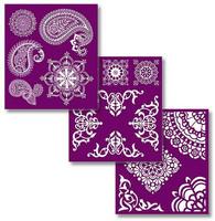 Sabluunasetti  20 x 22 cm - Mosaic Silkscreen Stencil