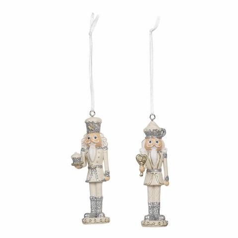 Pähkinänsärkijät Masa ja Samu - 3 x 10 cm - Hopea