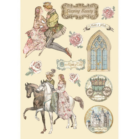 Vanerikoristeet - Levyn koko 14,8 x 21 cm - Sleeping Beauty