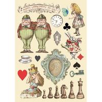 Vanerikoristeet - Levyn koko 14,8 x 21 cm - Alice Chessboard