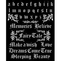 Sabluuna - 20 x 25 cm - Sleeping Beauty Alphabet and Quotes