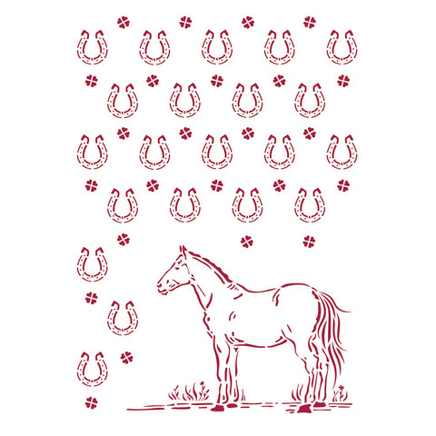 Sabluuna - A4 - Horses Horseshoes Pattern