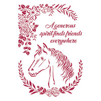 Sabluuna - A4 - Romantic Horses Horse with Flowers