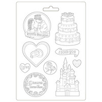Muotti - A4 - Sleeping Beauty Castle and Cake