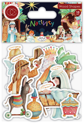 Vanerikoristeet - Nativity Wooden Shapes