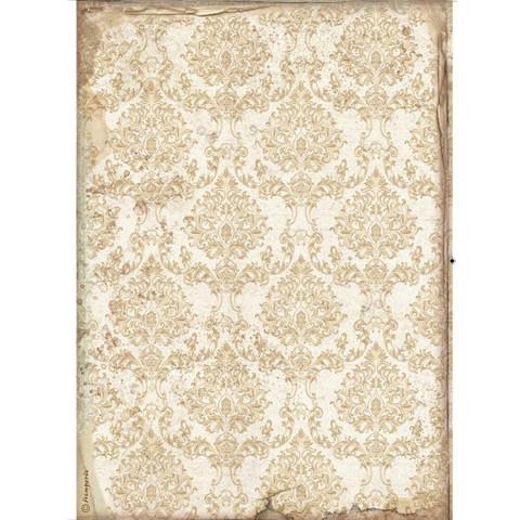 Decoupage-arkki - A4 - Sleeping Beauty Wallpaper Gold