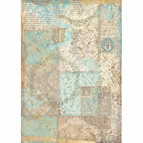 Decoupage-arkki - A4 - Sleeping Beauty Texture Gold