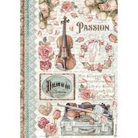 Decoupage-arkki - A4 - Passion Music