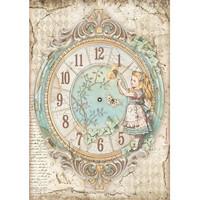 Decoupage-arkki - A4 - Alice Clock