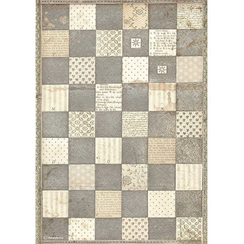 Decoupage-arkki - A4 - Alice Chessboard