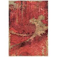 Decoupage-arkki - A4 - Sir Vagabond in Japan Red Texture