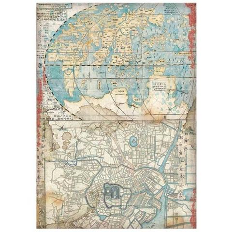 Decoupage-arkki - A4 - Sir Vagabond in Japan Map