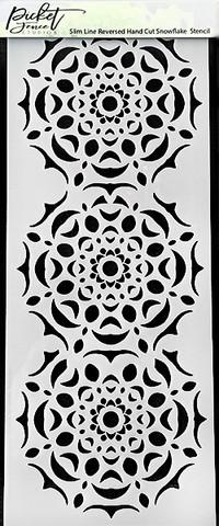 Sabluuna - 10 x 25 cm - Reversed Hand Cut Snowflake