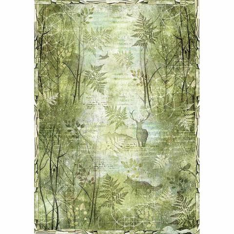 Decoupage-arkki - A3 - Green Forest