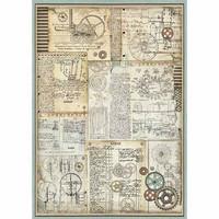 Decoupage-arkki - A3 -  Voyages Fantastiques Gears