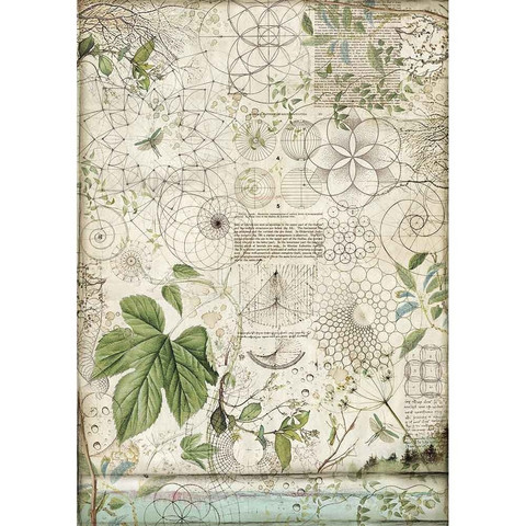 Decoupage-arkki - A3 - Geometry with Leaves