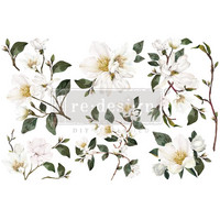 Siirtokuva - 45x30 cm - White Magnolia - Prima Redesign Decor Transfer