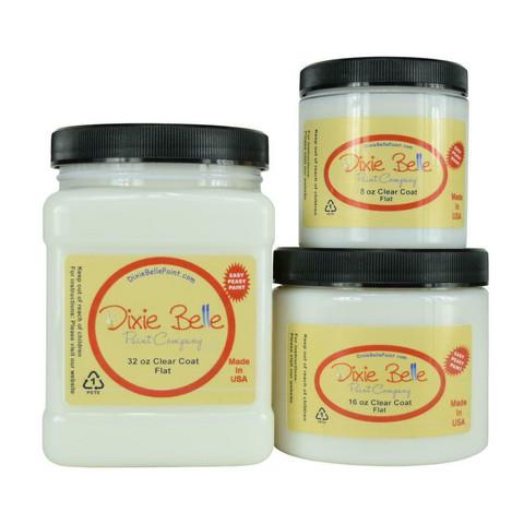 Lakka Flat Clear Coat - Dixe Belle Paint - 236 ml