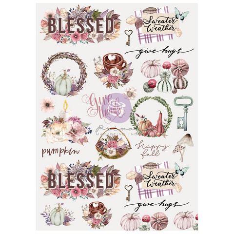 Riisipaperi - 29x41 cm - Prima Marketing Hello Pink Autumn Rice Paper Hello Autumn