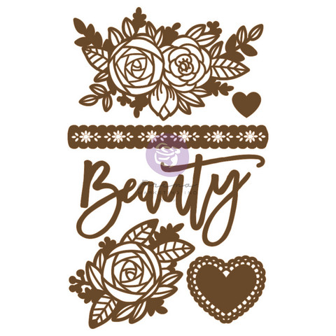 Koriste 13x20 cm - Prima Marketing Beauty Arises Chipboard Diecut