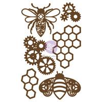 Koriste -  Prima Marketing Powerful Bees Chipboard Diecut