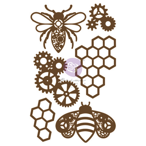 Koriste 13x20 cm - Prima Marketing Powerful Bees Chipboard Diecut