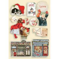 Vanerikoristeet - Levyn koko 14,8x21 cm - Stamperia Romantic Christmas