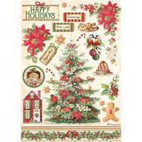 Decoupage-arkki - A4 - Classic Christmas Tree Stamperia