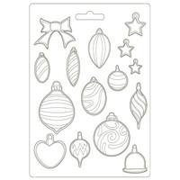 Muotti - A4 - Stamperia Soft Mould Romantic Christmas Balls