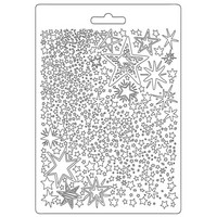 Muotti - 21 x 15 cm - Stamperia Soft Mould Christmas Patchwork Stars