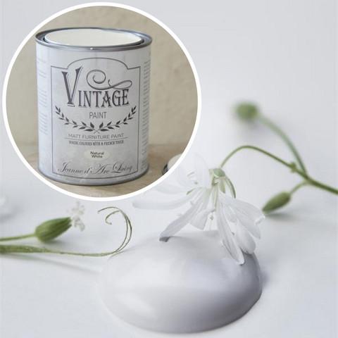 Kalkkimaali - Valkoinen - 100 ml - Vintage Paint - Natural White