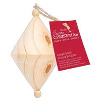 Joulupallo - Papermania Create Christmas Large Solid Wood Bauble Diamond