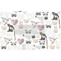 Decoupage-arkki - 48x76 cm - Origami Love Re-Design Prima Tissue Paper